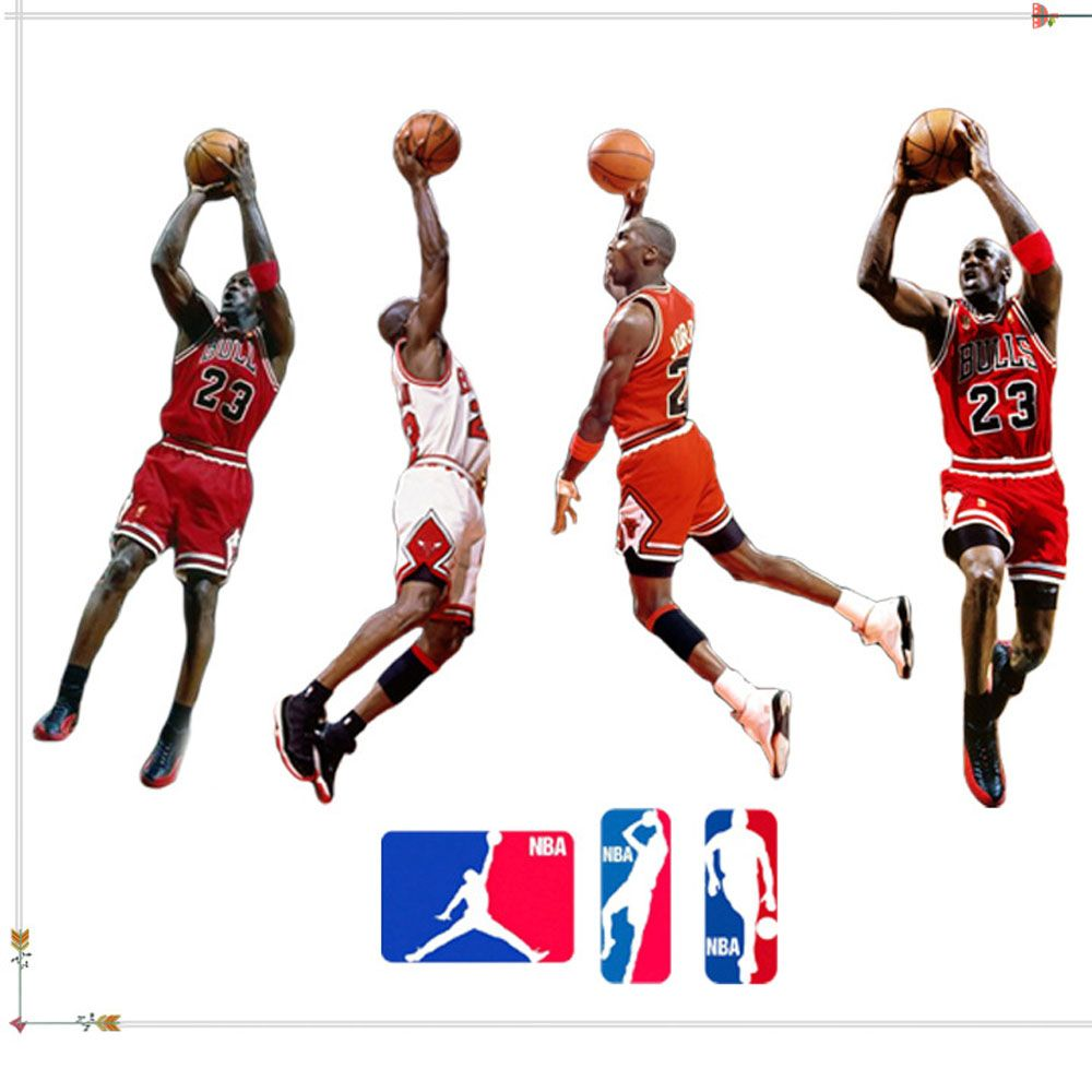 Best Removable Nba Basketball Wall Stickers Kids Bedroom Diy Kids Wall Decals Home Decor Wallpaper 400 x 300