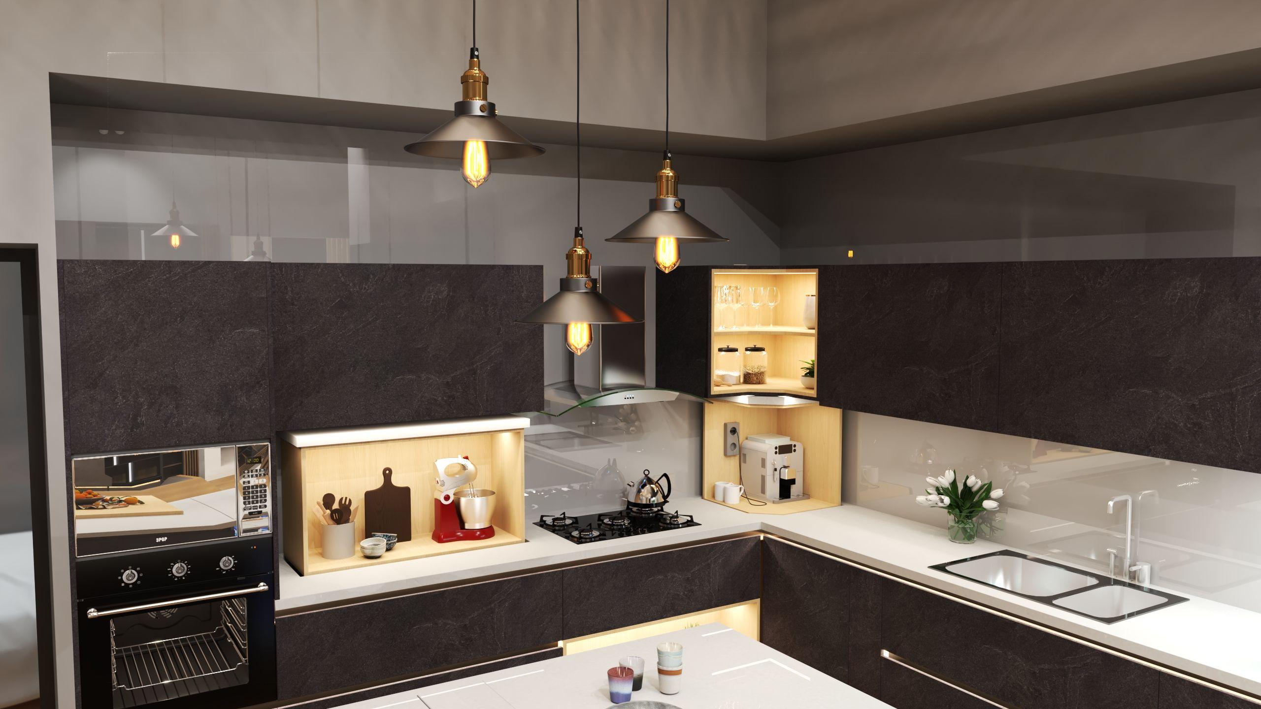 Kitchen design for @idf 7 #interiordesignexpo in #muscat #oman