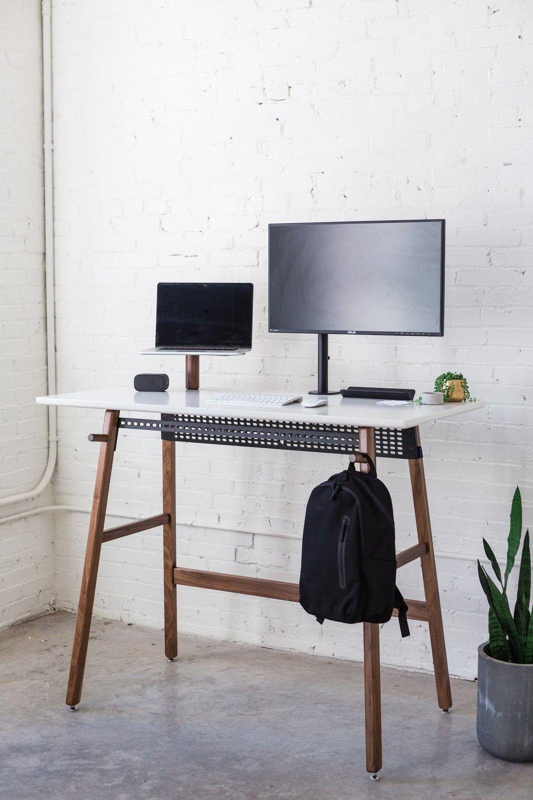 Standing Desk 02 Home Office Decor Desk Design White Standing Desk