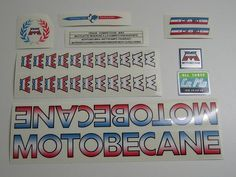 1986 Puch Freestyler Pro Old School BMX Decals Stickers Set