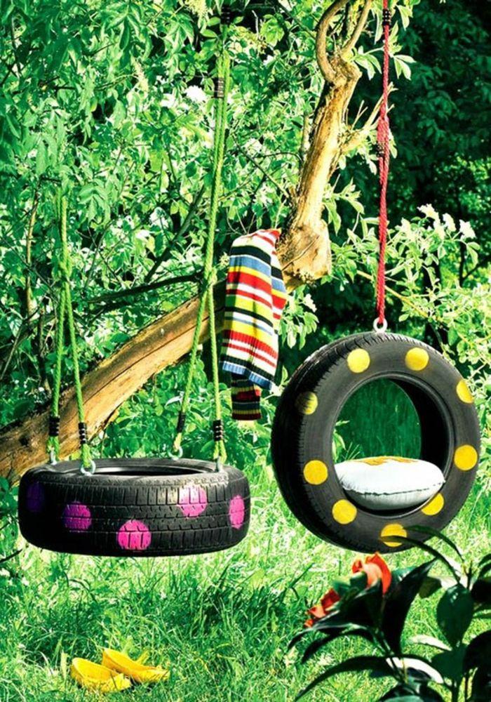 Le recyclage pneu - idées originales - Archzine.fr   Pinterest ...