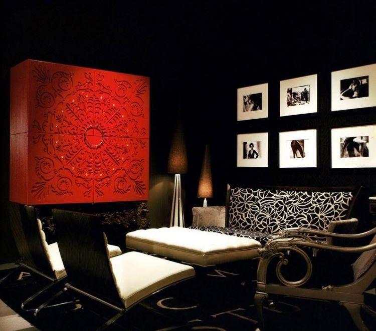 Décoration salon moderne en noir pour un intérieur chic et ...