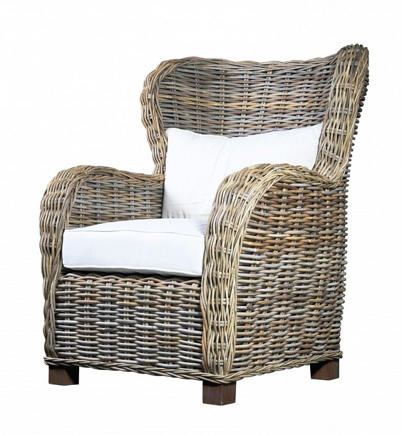 Indoor Painted Rattan Wicker Armchair Traditional ...