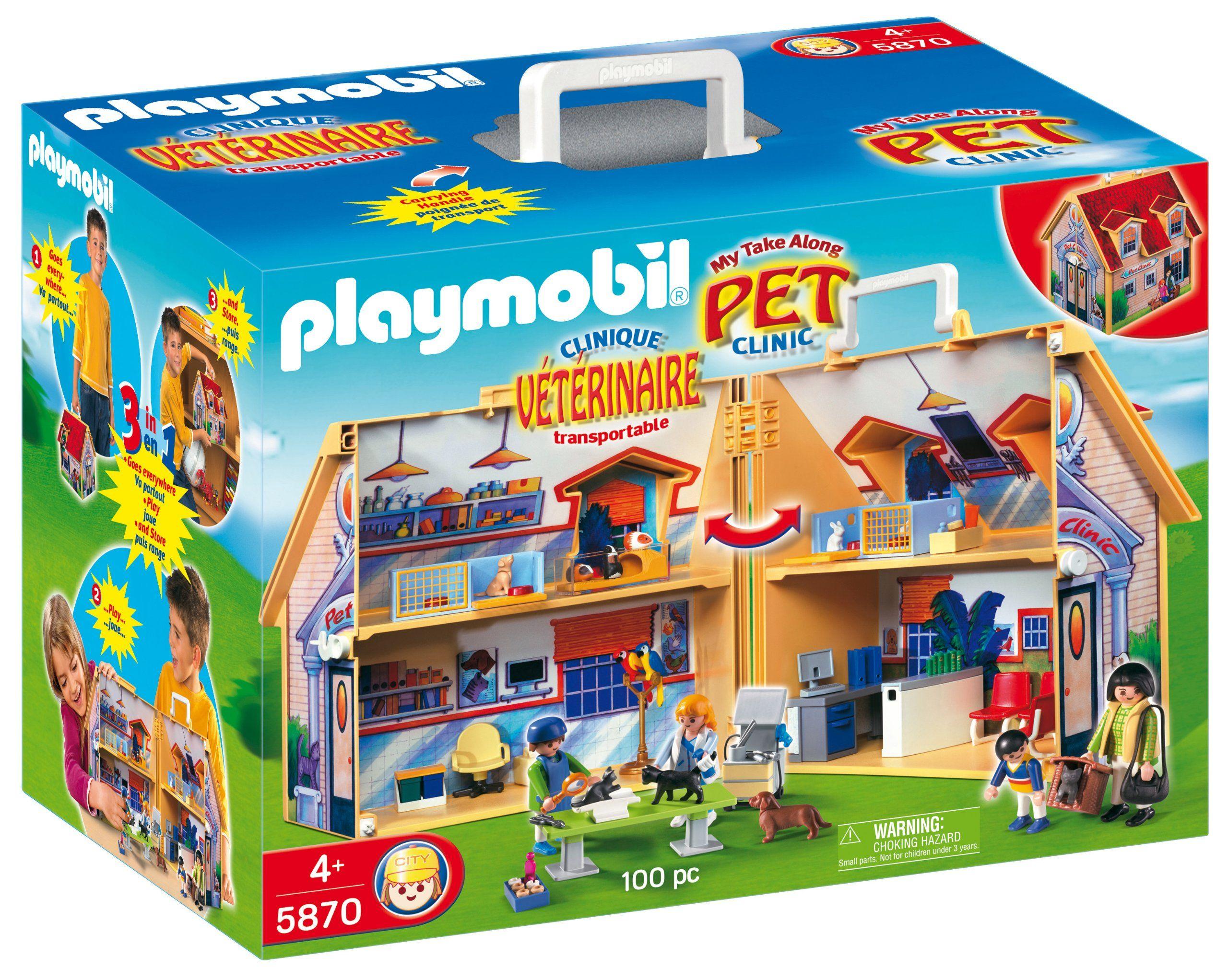 Playmobil My Take Along Pet Clinic Pet clinic, Playmobil