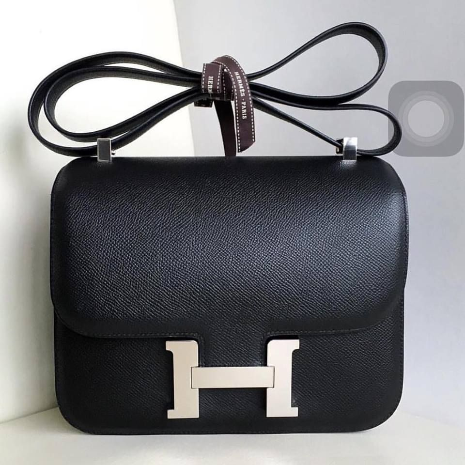 Hermes Constance 24cm In Black