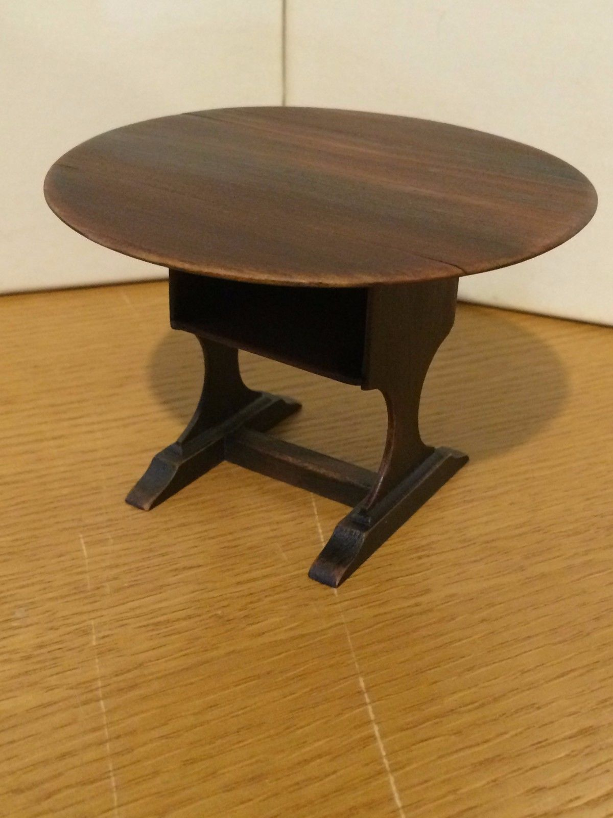 David White - painted distressed tilt-top table