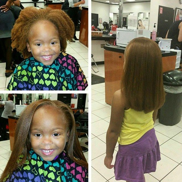 Blowout and silk pressed all natural hair no chemicals stylist feature loving this blow out transformation on this lil cutie the fandeluxe Epub