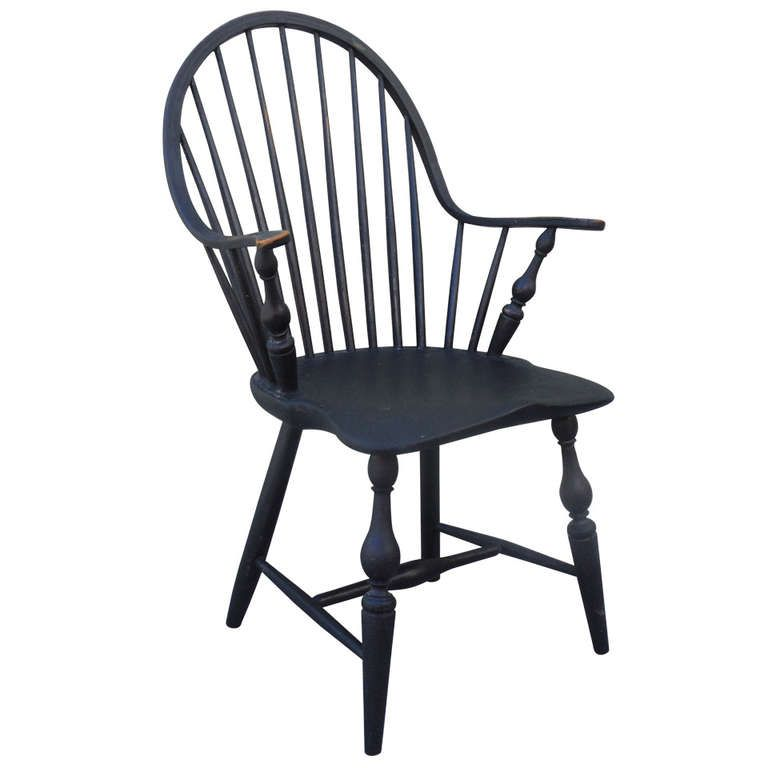 windsor chair with arms black