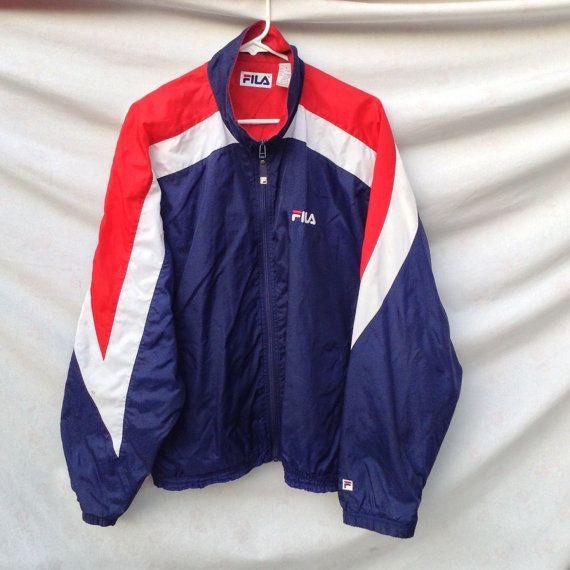 vintage FILA Jacket // Size L | OUTFIT INSPO in 2019 | Retro kleider ...