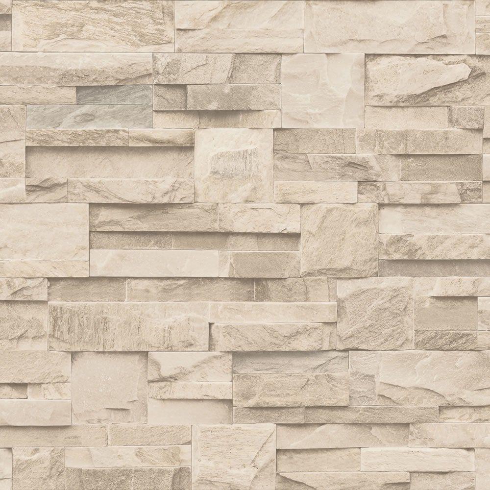 Stone Wall Paper muriva bluff slate stone brick effect wallpaper j27407 | stuff to