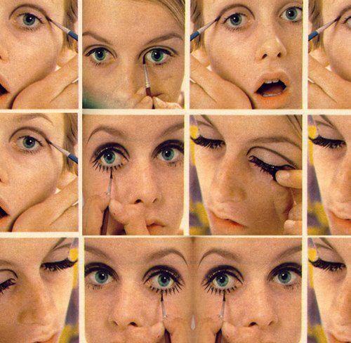 Twiggy Eye Makeup Tutorial With Images Twiggy Makeup 60s