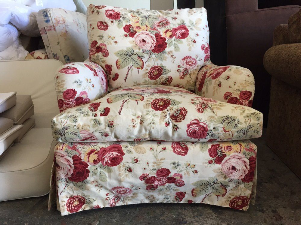 Custom Furniture By Wm   Van Nuys, CA, United States. Floral Fabric  Upholsteredu2026
