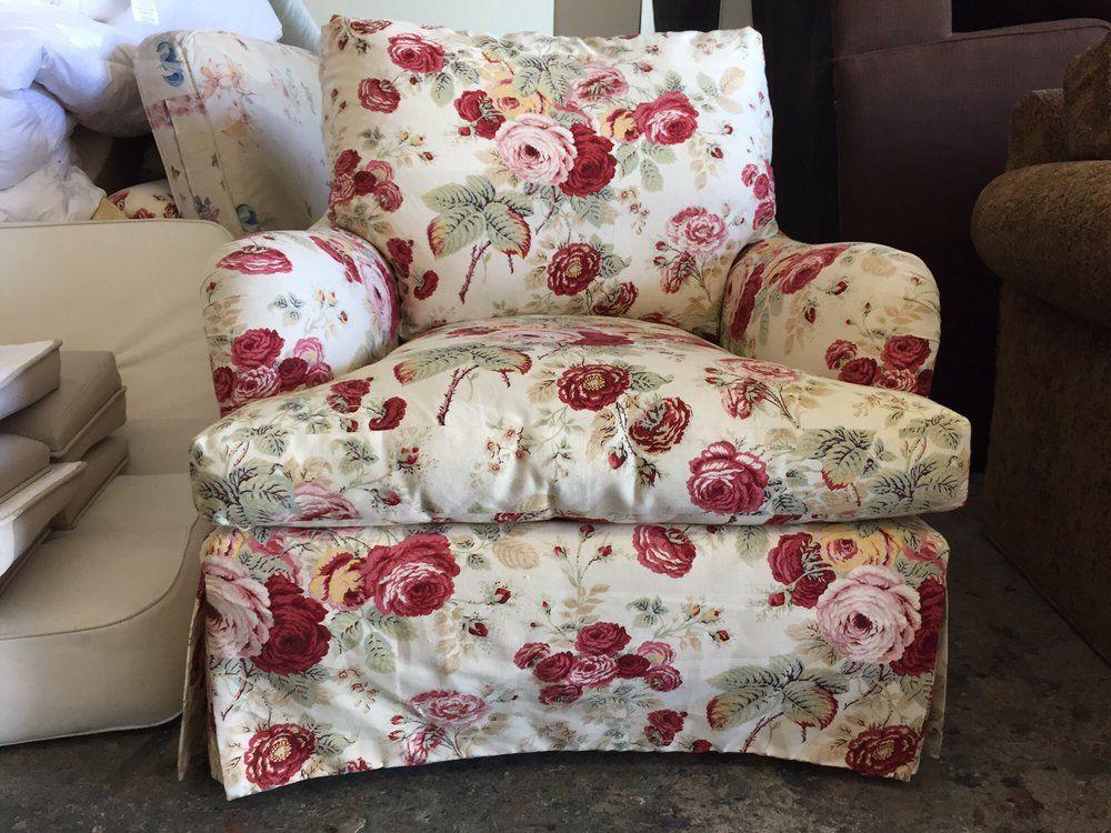 Custom Furniture By Wm   Van Nuys, CA, United States. Floral Fabric  Upholsteredu2026