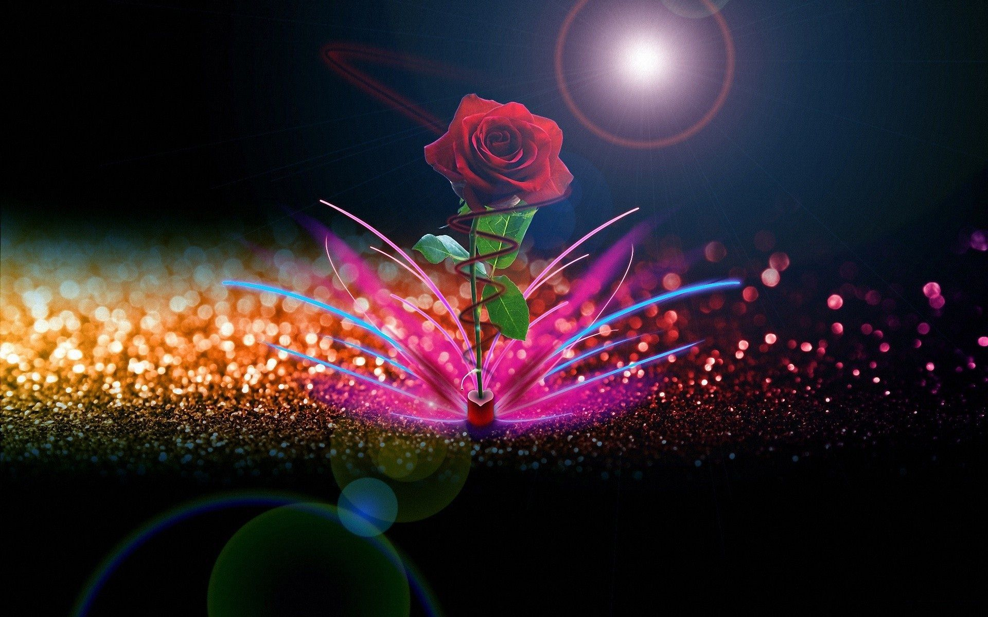 Rose Love Wallpaper Good Night Images Rose Flower Wallpaper