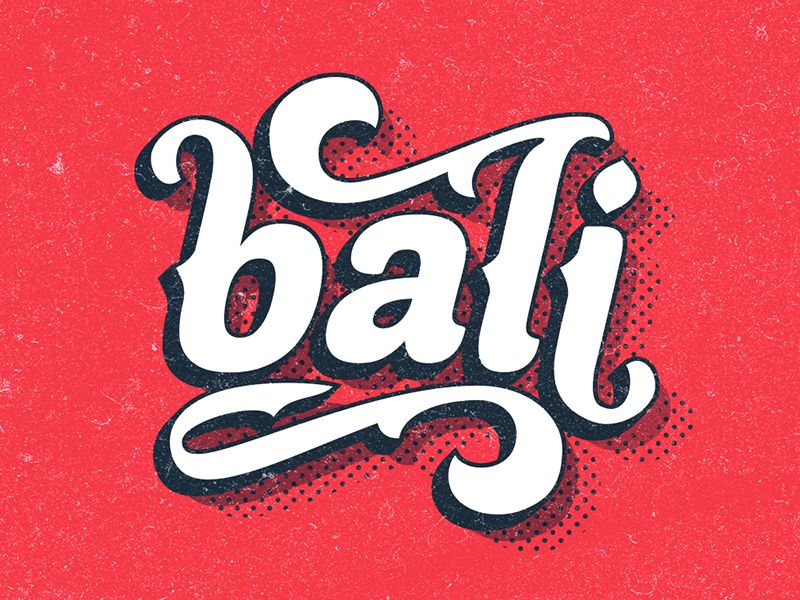 Bali Logo Graphic Design Logo Logos Lettering Design