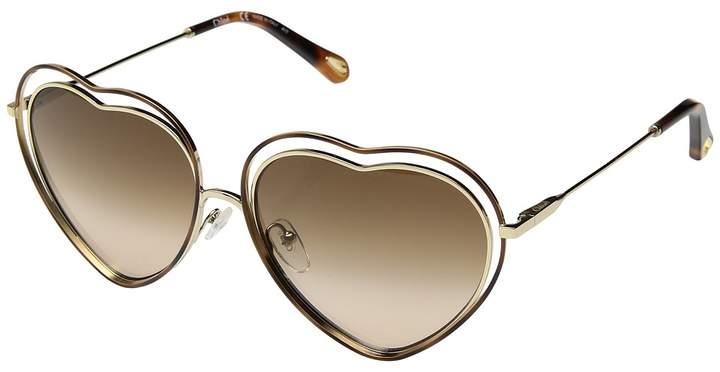 b52ec36286 Chloe - Poppy Love heart shape designer sunglasses