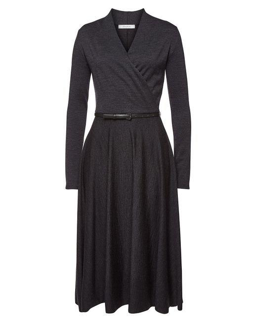 08da33205c1 Max Mara - Black Larix Virgin Wool Midi Dress - Lyst