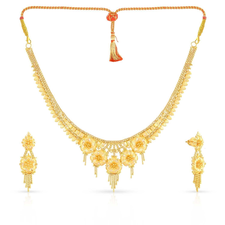 Malabar Gold Necklace Set NSMHAAAAACRUCA | Gold Jewellery Designs ...