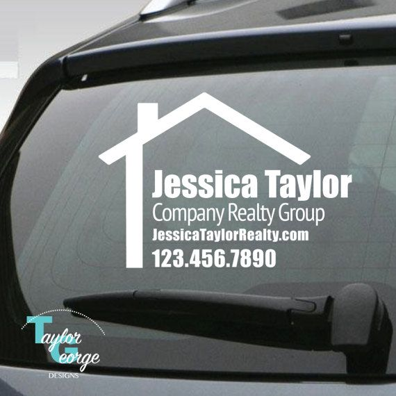 real estate signs, vinyl signs, logo stickers, realty signs, yeti
