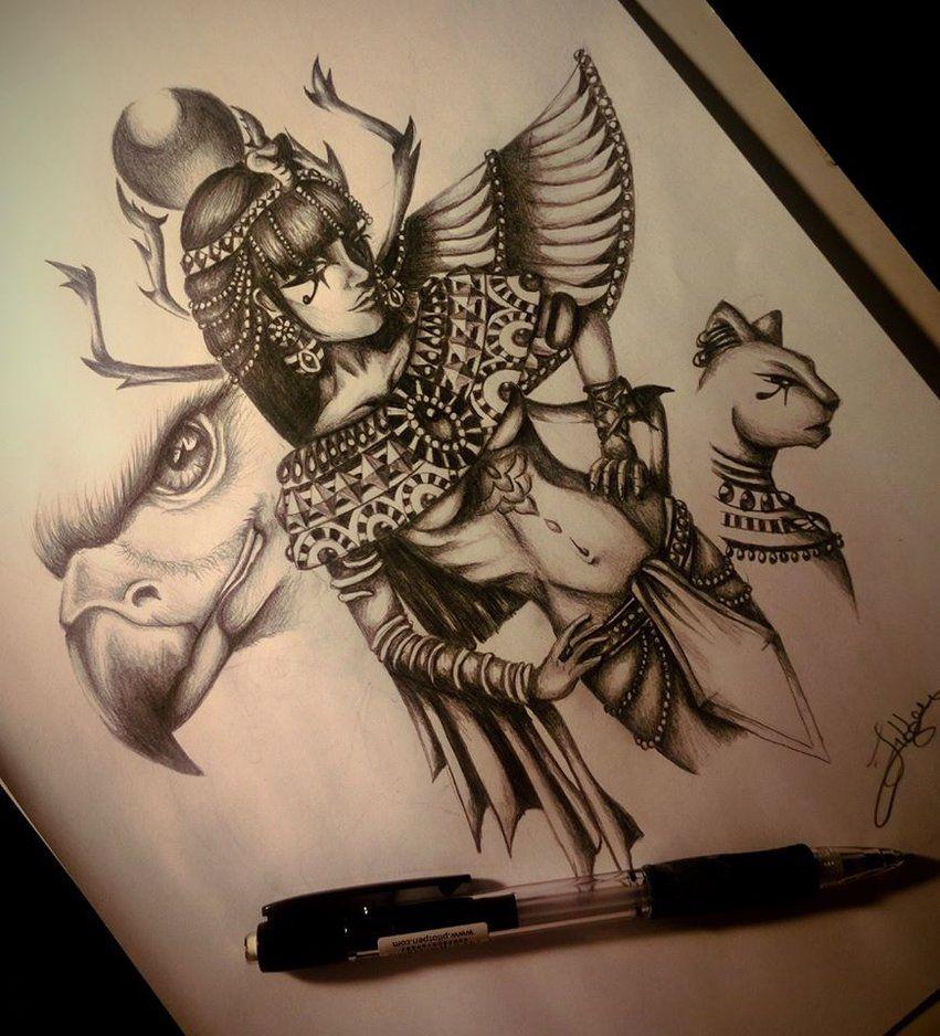 Тату в египетском стиле эскизы