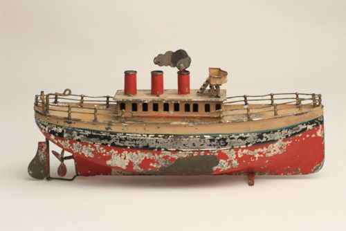 Atq Tin Mechanical Clockwork Windup Ocean Liner Toy Marklin Carette ...