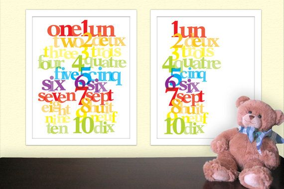 Nursery Print  Bilingual Baby  FRENCH by jackaroodesigningco, $16.00