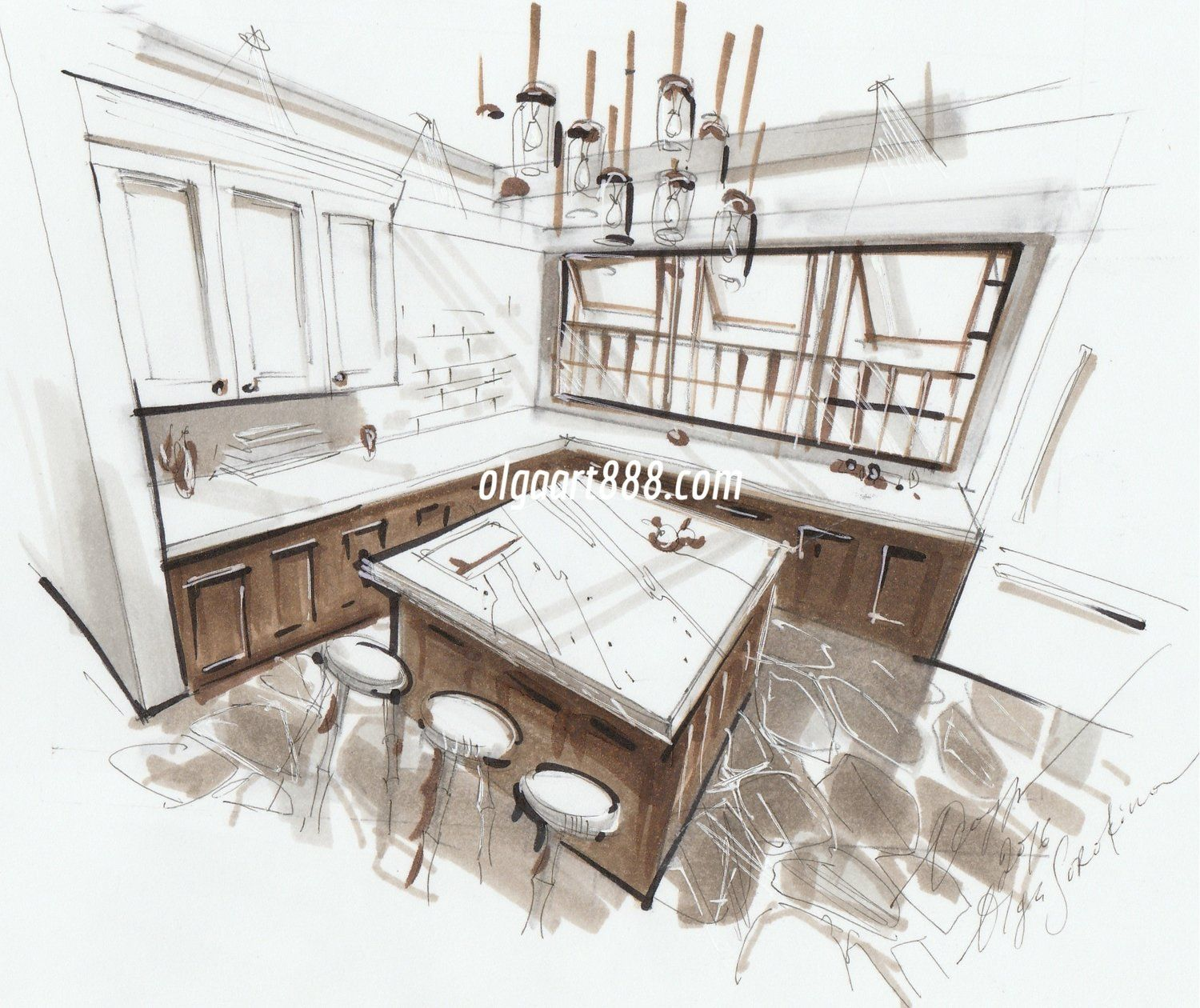 Online Sketching Courses For Interior Designers Interer Dizajn