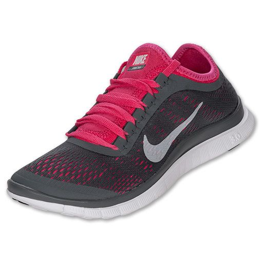size 40 ead0e 7b24a Women s Nike Free 3.0 v5 Running Shoes   FinishLine.com   Dark  Grey White Pink Force