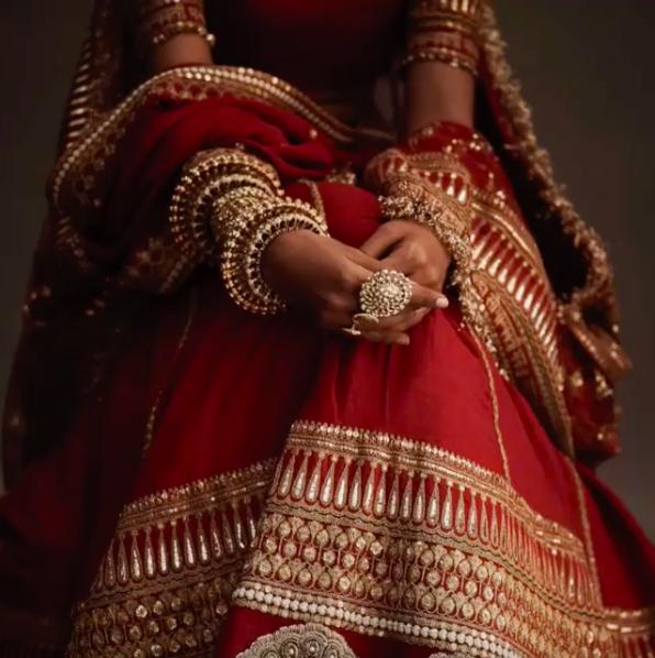 deepika padukone's wedding dress  on We Heart It