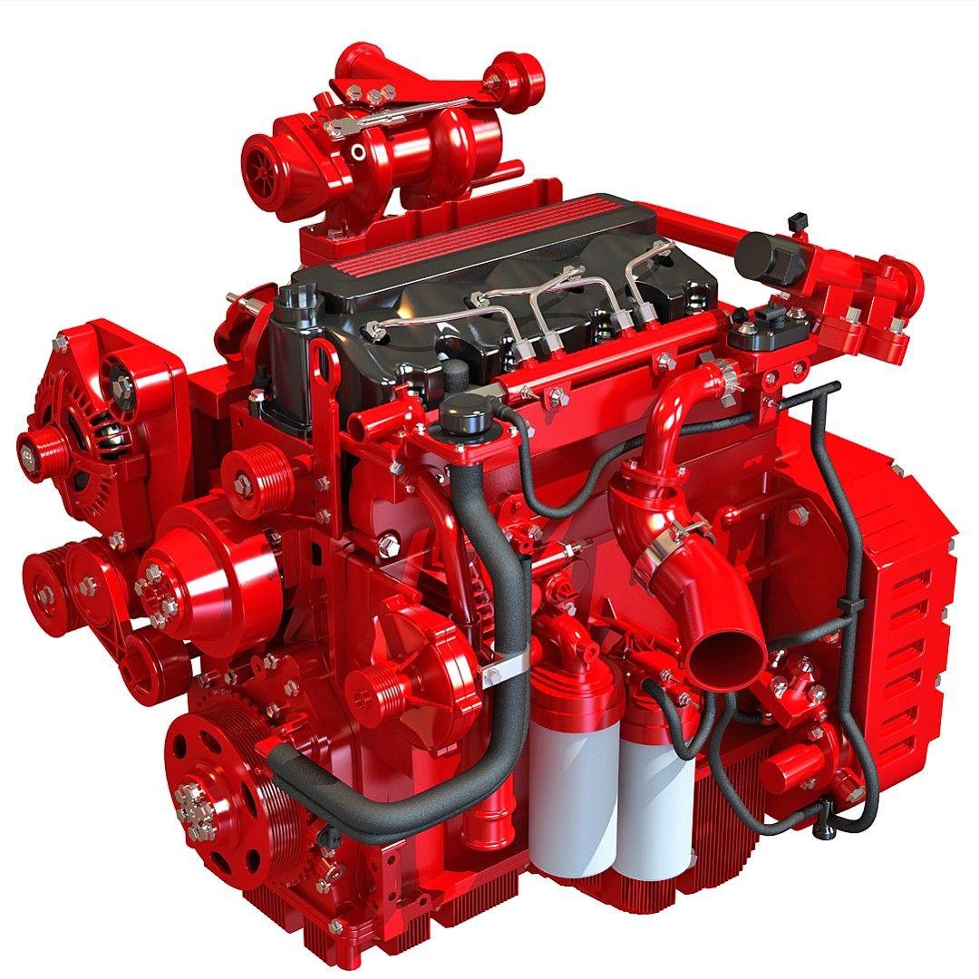 Heavy Duty Diesel Engine 3d Model Diesel Engine Cummins Engine Engineering