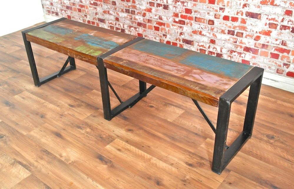 Image Result For Large Industrial Dining Table And Benches