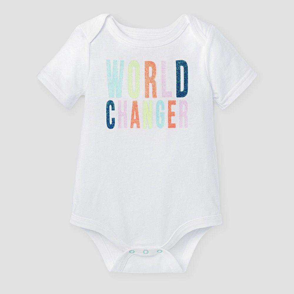 Baby Girls' World Changer Bodysuit - Baby Cat & Jack Fresh ...