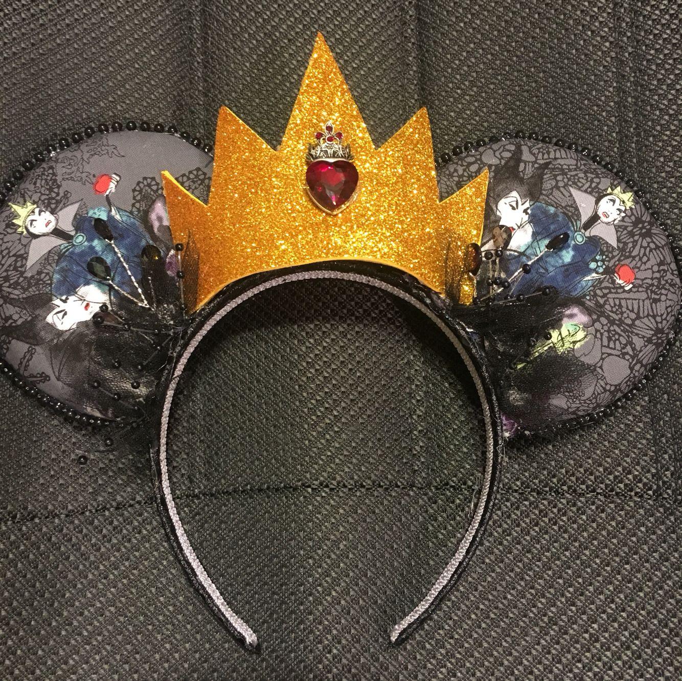 Evil Queen and Villains Mouse Ears   Disney ears headband ...Disney Evil Queen Ears