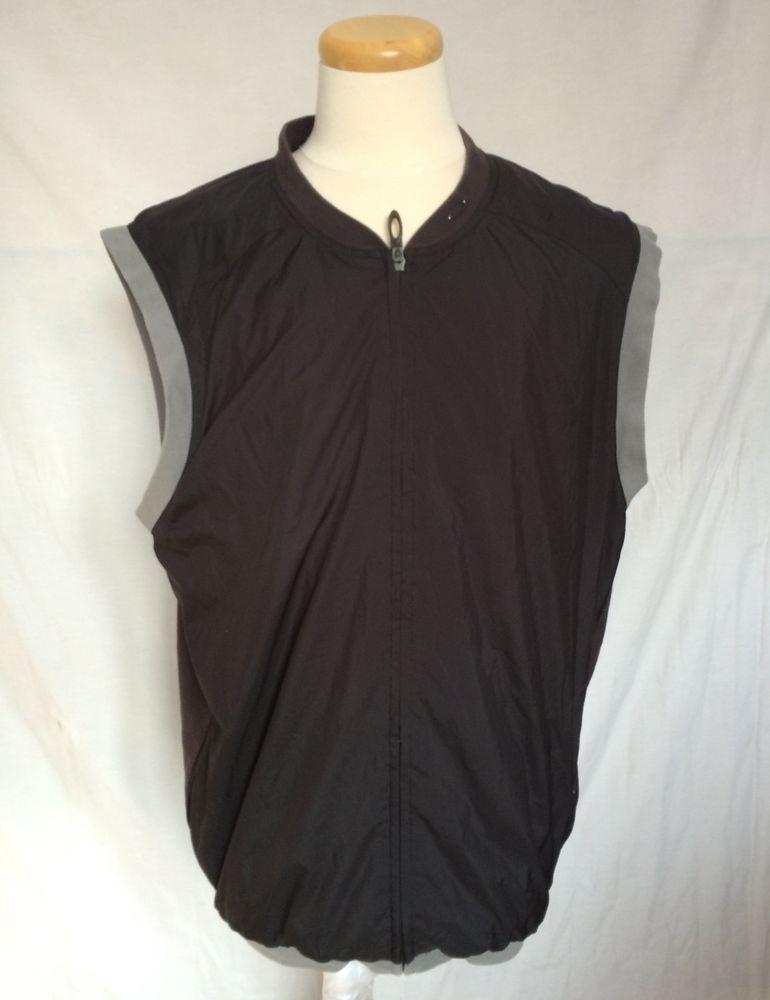 8fee4834923fe Oakley Full Zip Sz XXL Mens Sleeveless Golf Rain Wind Vest Black ...