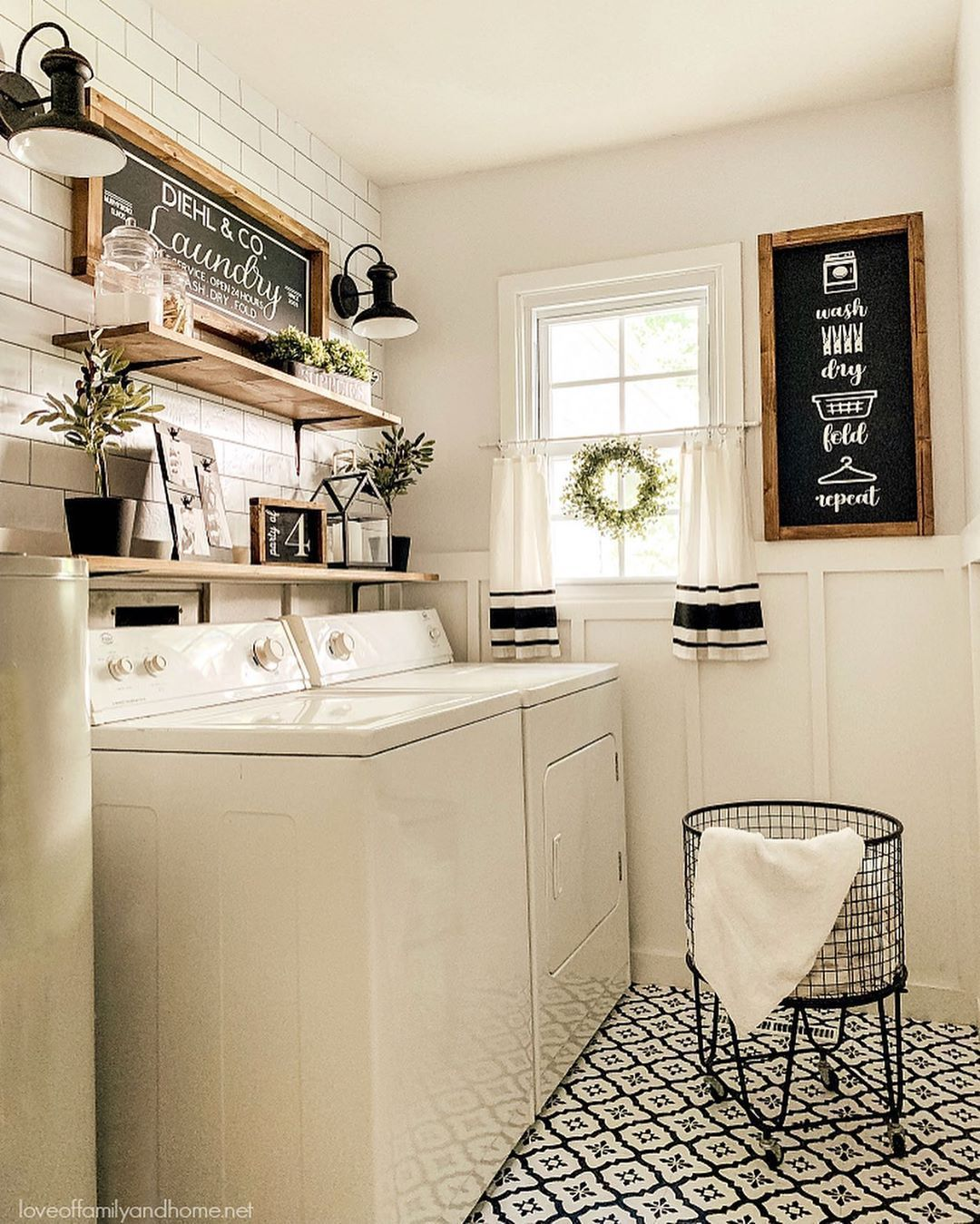 Amazing Diy Laundry Room Makeover With Farmhouse Style