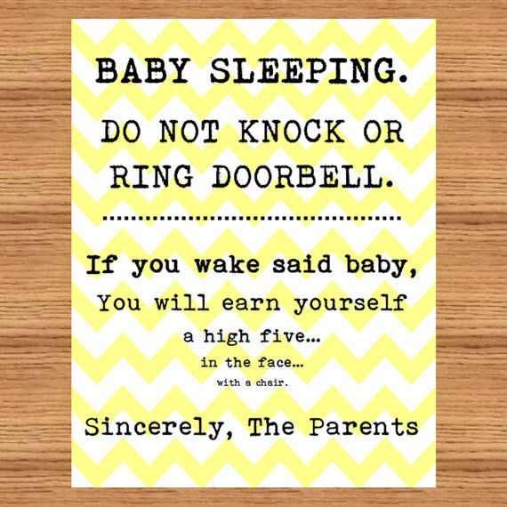Baby Sleeping Sign Front Door Do Not Disturb High By Mommabish