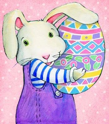Bunny with Easter Egg - Deb Melmon Illustration from It's Easter