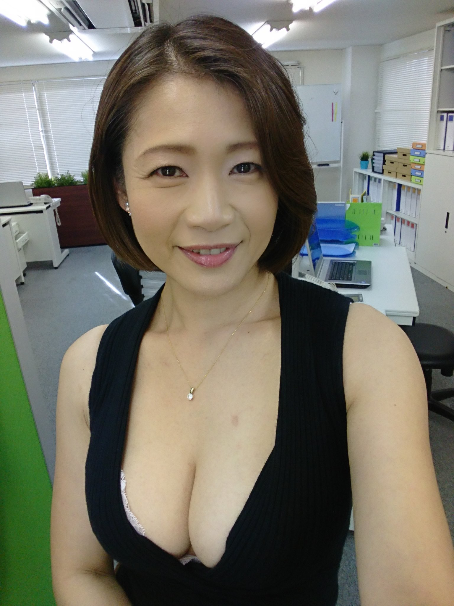 High heels asian milf