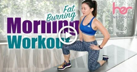 Beginner FAT Burning Morning Workout (Burn 300Cals in 15 Mins!) | Joanna Soh #food #fitness