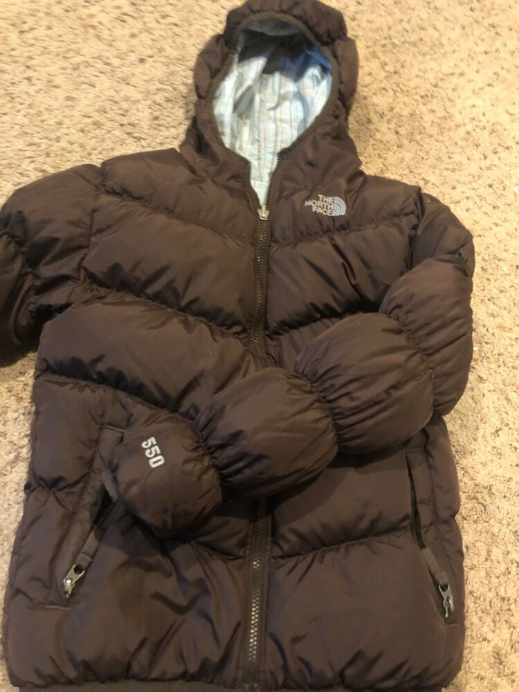 ad39f65a7 North Face Girls/Youth Plaid Brown Reversible Jacket Coat Winter ...
