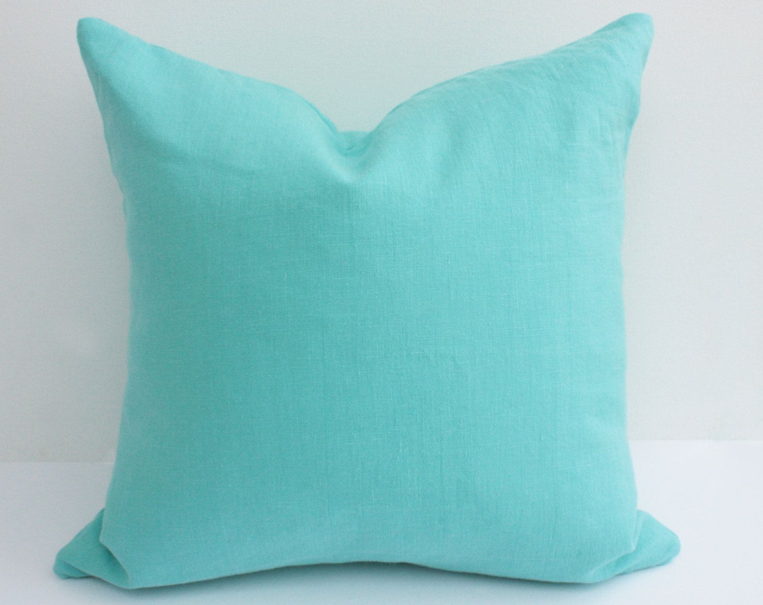 CUSTOM ORDER Linen Pillow Cover, Solid Color Pillow Cover, Solid Linen Pillow Cover with Zipper, 24 x 24 Pillow Cover, Custom Pillow Cover. $34.00, via Etsy.