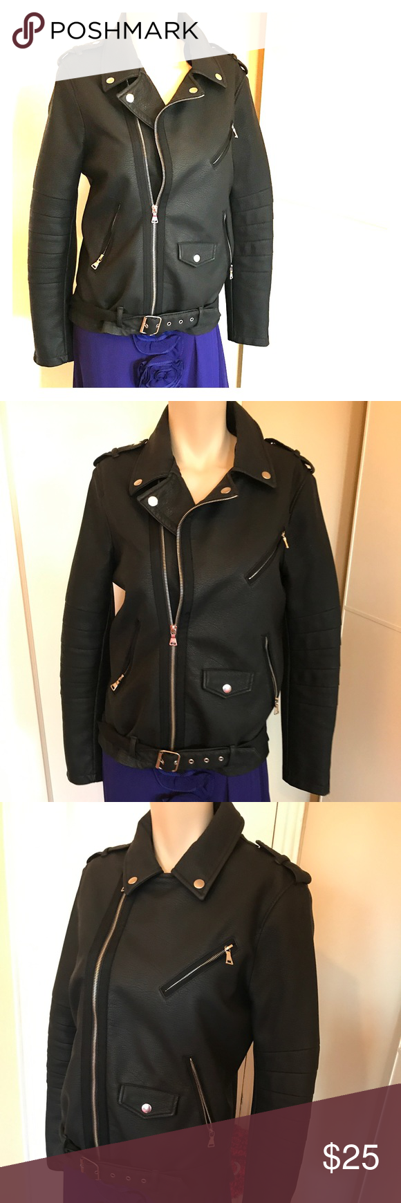 EXPRESS Black Motor Jacket Size M EXPRESS Motor Jacket