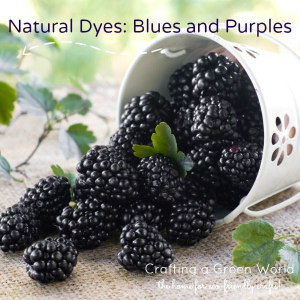 Natural Dyes Blues and Purples