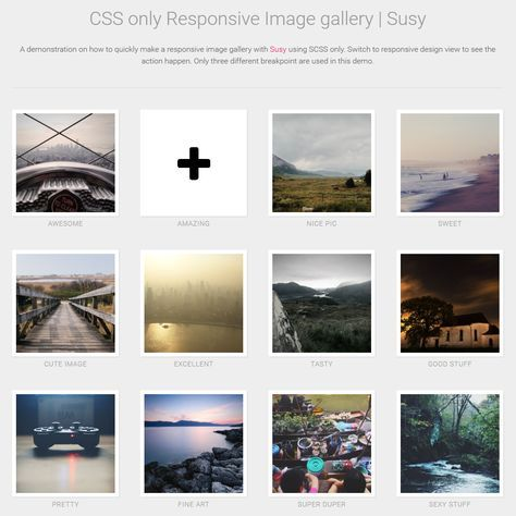 Pure CSS Responsive Image Gallery | Design web, Web development and ...