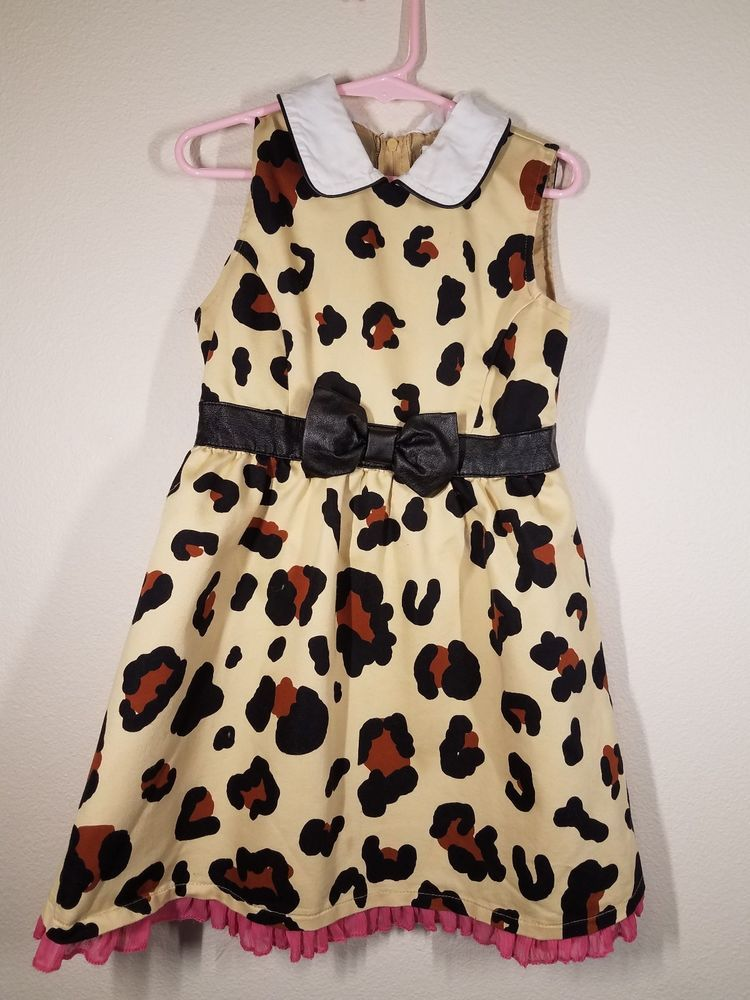 14990dd77 Harajuku Mini For Target Leopard Print Sleeveless Dress 4 5 XS ...