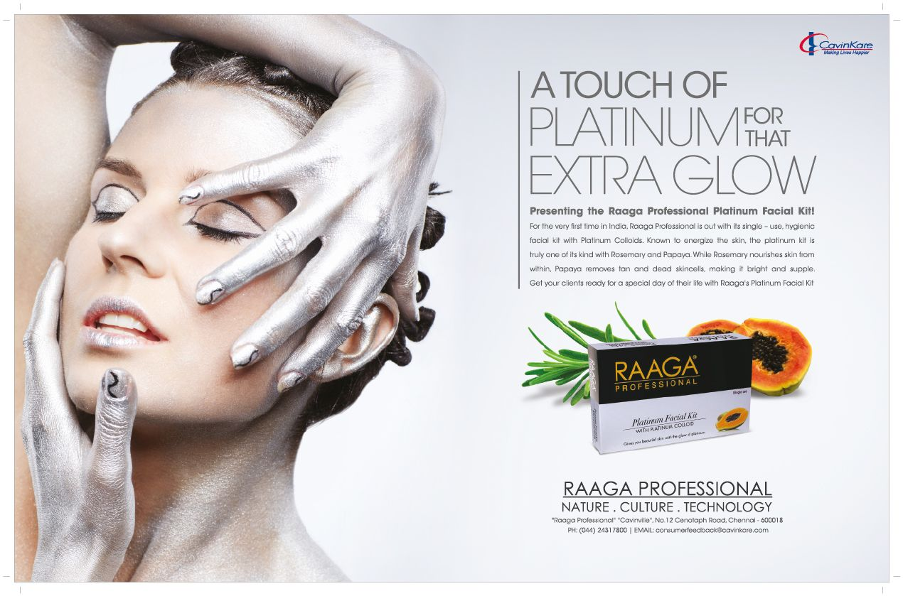 Our Print Ad For Raaga S Professional Take A Look Print Ads Halloween Face Makeup Cool Designs