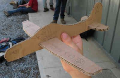 Cardboard Airplane - make large scale with refrigerator