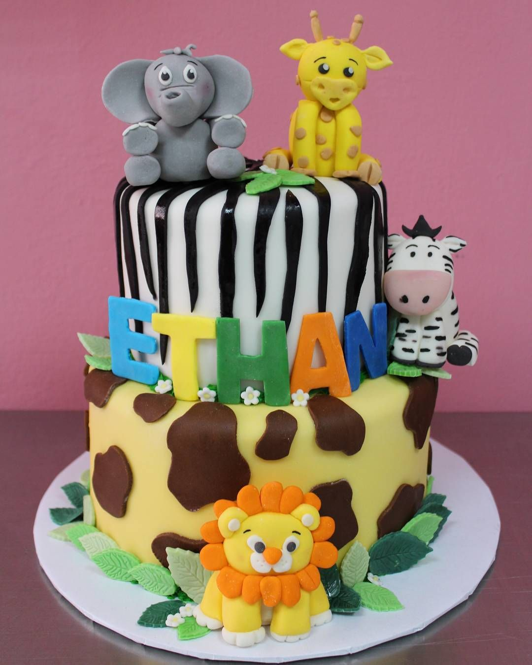 Awe Inspiring Jungle Safari Birthday Party Cake Jungle Safari Party In 2019 Funny Birthday Cards Online Elaedamsfinfo