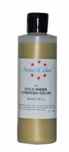 AmeriColor Amerimist Airbrush Color 9 Ounce, Gold Metallic Sheen ...