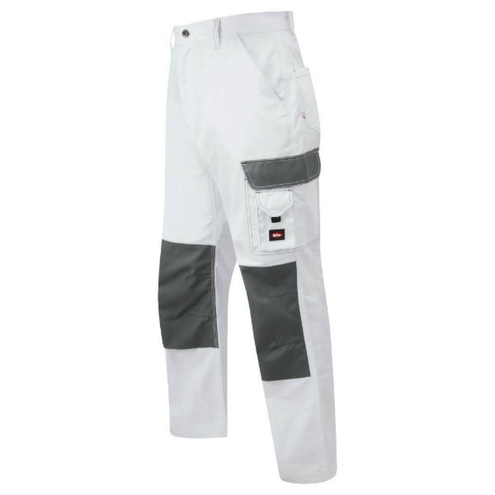 a9cd2a9c1c Men s Lee Cooper Workwear LCPNT228 White Cargo Pant Trouser Painter Trousers